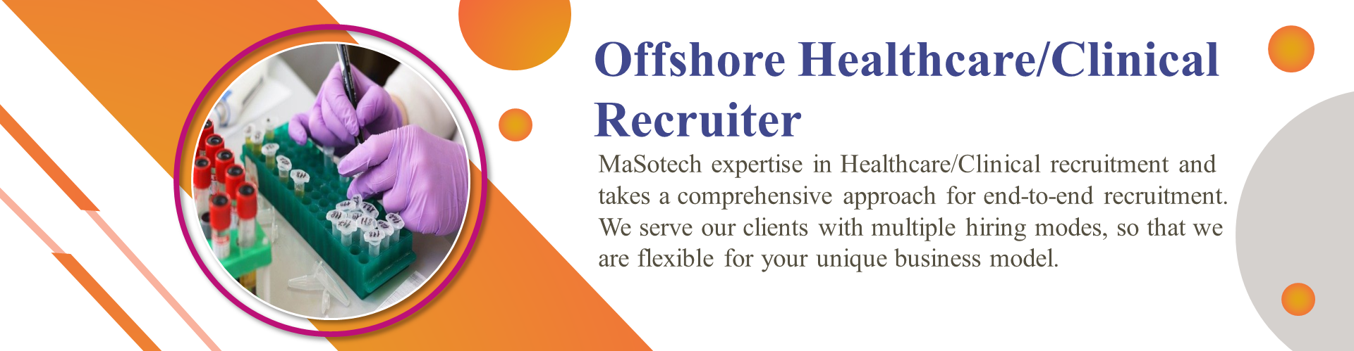 Offshore Healthcare/Clinical Recruiter