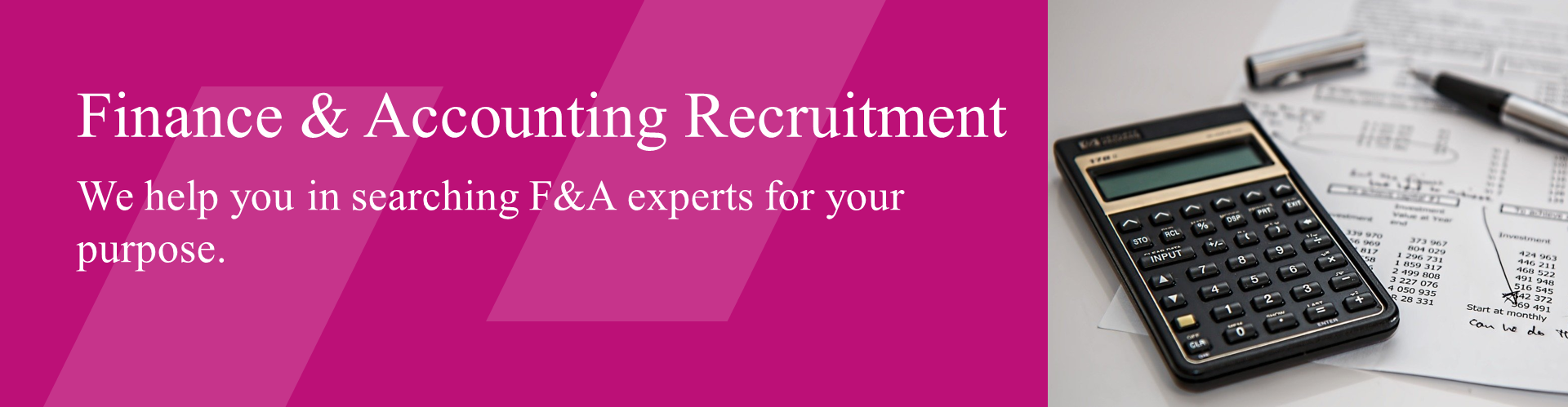 Finance & Accounting Recruitment